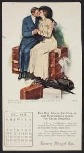 Trade card for Henry Siegel Co., location unknown, 1911