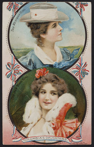 Trade card for C.I. Hood Family Medicines, C.I. Hood Co., Lowell, Mass., 1903