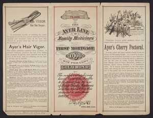 Circular for The Ayer Line of Family Medicines, Dr. J.C. Ayer & Co., Lowell, Mass., undated