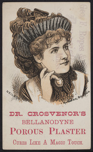 Trade card for Dr. Grosvenor's Bellanodyne Porous Plaster, location unknow, undated