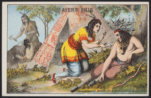 Trade card for Ayer's Pills, manufactured by J.C. Ayer & Co., Lowell, Mass., undated