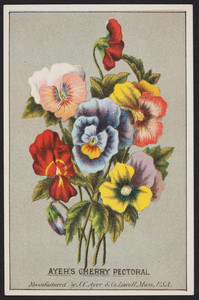 Trade card for Ayer's Cherry Pectoral, manufactured by J.C. Ayer & Co., Lowell, Mass., undated
