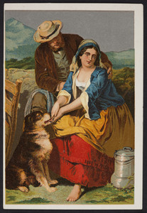 Trade card for Dr. Jayne's Expectorant, remedy for coughs and colds, location unknown, undated
