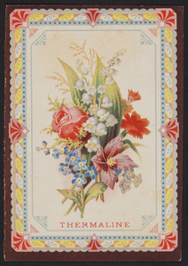 Trade card for Thermaline, location unknown, undated