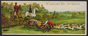 Trade card for St. Jacobs Oil for Sprains, The Charles A. Vogeler Company, Baltimore, Maryland, undated