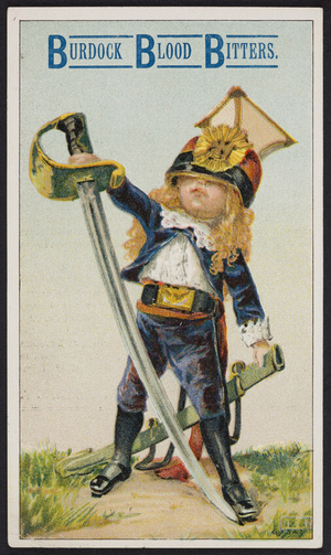Trade card for Burdock Blood Bitters, Foster, Milburn & Co., Buffalo, New York, undated