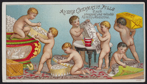 Trade card for Ayer's Cathartic Pills, Dr. J.C. Ayer & Co., Lowell, Mass., undated