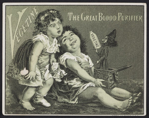 Trade cards for Vegetine, the great blood purifier, H.R. Stevens, No. 464 Broadway, Boston, Mass., undated
