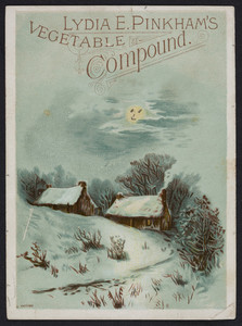 Trade card for Lydia E. Pinkham's Vegetable Compound, Lynn, Mass., undated