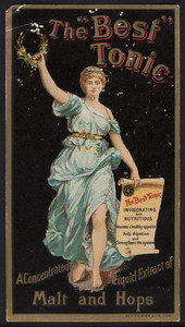 Trade card for The Best Tonic, extract of malt and hops, Pabst Brewing Company, Milwaukee, Wisconsin, undated