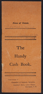 Handy cash book, Wells & Richardson Co., Burlington, Vermont, 1894