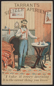 Trade card for Tarrant's Seltzer Aperient, location unknown, undated