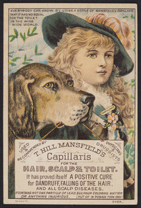 Trade card for T. Hill Mansfield's Capillaris for the hair, scalp & toilet, Portland, Maine, undated