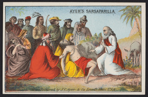 Trade card for Ayer's Sarsaparilla, manufactured by J.C.Ayer & Co., Lowell, Mass., undated