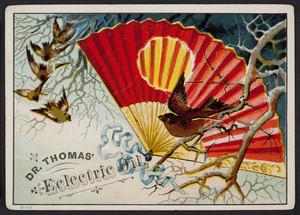 Trade card for Dr. Thomas' Eclectric Oil, location unknown, undated