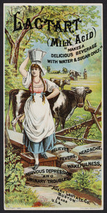 Trade card for Lactart Milk Acid, beverage, Avery Lactate Co., Boston, Mass., 1884