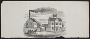 View of the Roswell Gleason House and Factory, Washington Street, opposite School Street, Boston, Mass., undated