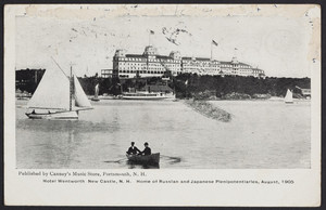 Hotel Wentworth, New Castle, New Hampshire, home of Russian and Japanese plenipotentiaries, August, 1905