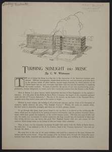 Turning sunlight into music, by C.W. Whittemore, Boston, Mass., April 14, 1924