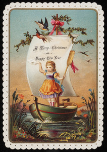 Merry Christmas and a happy new year greeting card, location unknown, undated