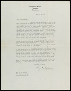 Letter from Henry Davis Sleeper to Halfdan M. Hanson, March 4, 1921