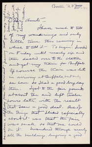 Letter from Theodore Jewett Eastman to his aunts Mary and Sarah, Oct. 28, 1901