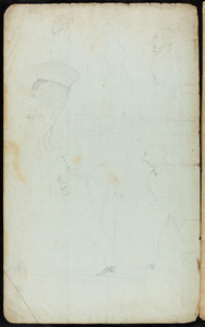 Sketches of sailors, inside back cover of book of invoices