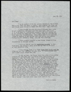 Letter from Nina Fletcher Little to Mary C. Black, curator of the Abby Aldrich Rockefeller Folk Art Collection