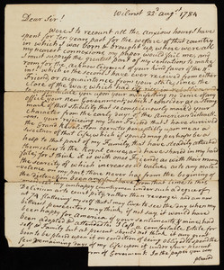 Letter from Jonathan Sayward to an unidentified recipient