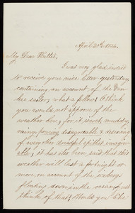 Letter from William Sumner Appleton, Sr. to Harriot Curtis