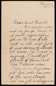 Letter from William Sumner Appleton, Jr., to Harrot Curtis