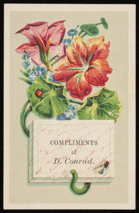 Compliments of D. Conrad, location unknown, undated