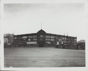 Exterior view of the old Motor Mart Garage, Park Square, Boston, Mass., undated