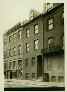Exterior view of 62 Carver Street, birthplace of Edgar Allan Poe, Boston, Mass., undated