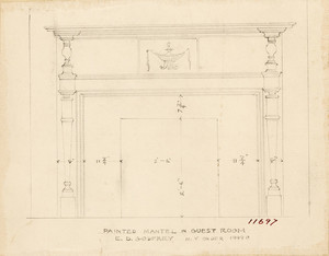 """""""Painted Mantel in Guest Room E. D. Godfrey"""""""