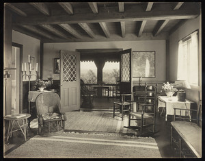 Interior view of Miss G.H. Emery house, Jaffrey, New Hampshire.