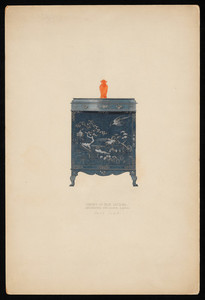 """""""Cabinet of Blue Lacquer, Decorated with Silver and Gold"""""""