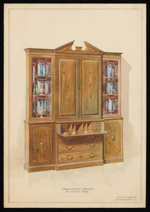 """""""Breakfront Cabinet of Knotty Pine"""""""