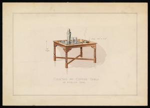 """""""Cocktail and Coffee Table of English Oak"""""""