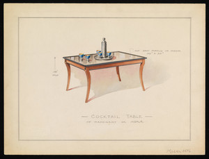 """Cocktail Table of Mahogany or Maple"""