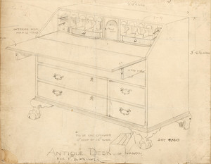 """Antique Desk of Mahog."""
