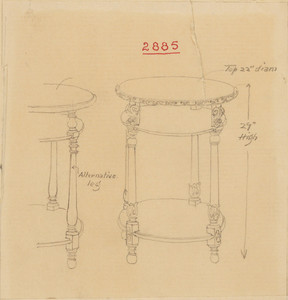 Round Table with Two Shelves