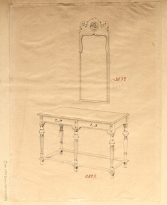 Rectangular Table and Mirror