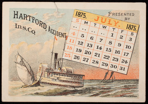 Trade cards for the Hartford Accident Insurance Co., Hartford, Connecticut, 1875
