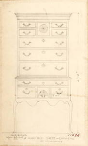 """A High Boy Chest of Drawers of Mahogany"""