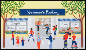 Business card for Newman's Bakery, 252 Humphrey Street, Swampscott, Mass., undated