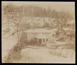 Exterior view of Frederick Law Olmsted Estate showing the firm's offices, Brookline, Mass., c. 1895.