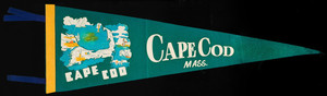 Pennant: Cape Cod (large; green, yellow, and blue)