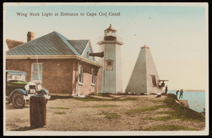 """Wing Neck Light at Entrance to Cape Cod Canal"""