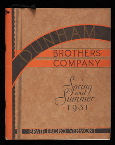 Dunham Brothers Company, spring and summer 1931, shoes, Brattleboro, Vermont, 1931